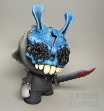 """Photo: """"C. Willard"""" Custom 7"""" Foomi with resin Vinyl Thoughts mask from Forces of Dorkness."""