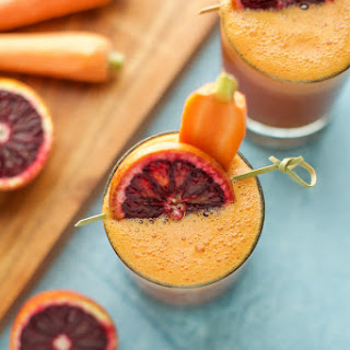 Blood Orange, Carrot and Turmeric Smoothie.