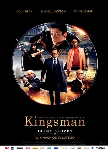 Przód ulotki filmu 'Kingsman: Tajne Służby'