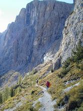 Photo: Colfoscu , Dolomiten: Piscadu Klettersteig mit Hella, Nina und Andrea Schannesz; 2004