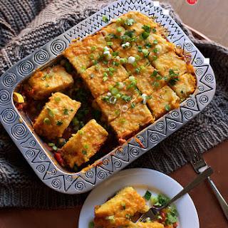 Veggie Tamale Pie Casserole