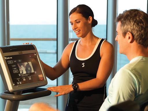 Adonia-Gym-Workout.jpg - Keep up your workouts on Adonia during cruises to Cuba or the Dominican Republic.