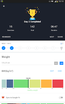 Home Workout - No Equipment APK screenshot thumbnail 14