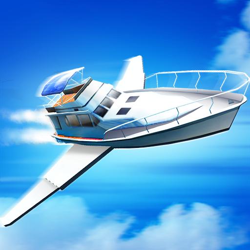 模拟のフライングのゲーム:クルーズ船の3D LOGO-記事Game