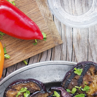 Balsamic Marinated Grilled Eggplant.
