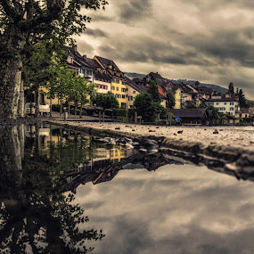 Lakeside by Jessica Meckmann - Instagram & Mobile iPhone ( switzerland, zug, town, puddle, iphone )