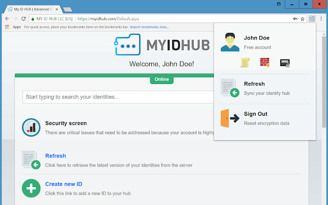My ID HUB : Advanced Online Password Manager