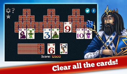 Fantasy Solitaire TriPeaks ♣  Free Card Game Screenshot