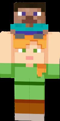 minecraft steve and alex face
