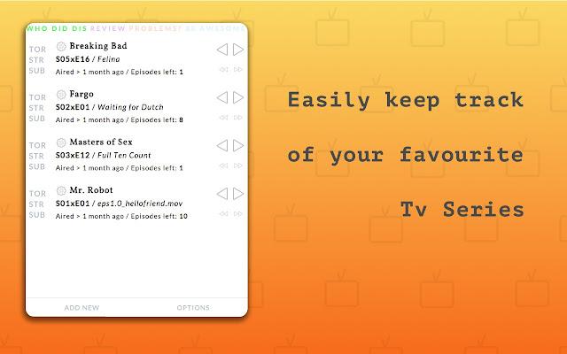 Seen! Tv Series Episode Tracker