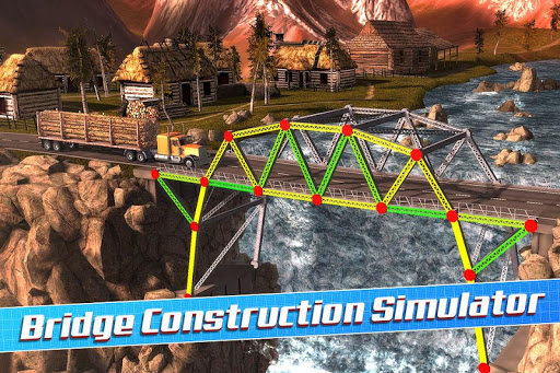 Bridge Construction Simulator  captures d'u00e9cran 1
