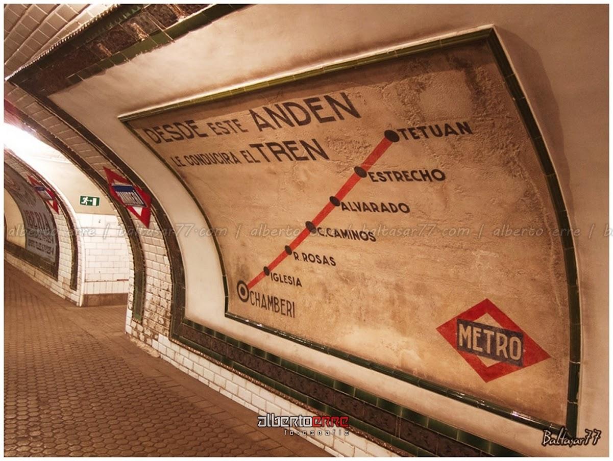Fotografías de la estación de metro de Chamberí (Madrid)