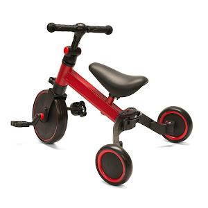 Tricicleta multifunctionala U-Grow 2 in 1, Rosu