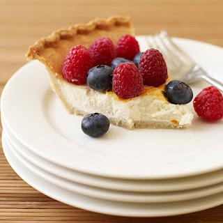 Raspberry-Blueberry Cheesecake Pie.