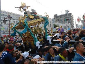 Photo: 【平成23年(2011) 本宮】  祭典本部での式典を終え、夜間渡御開始にあたり神輿もみ。