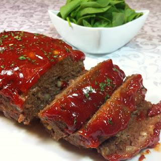 Brown Sugar Glazed Meatloaf.