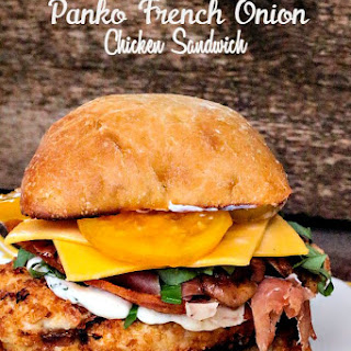 Panko French Onion Chicken Sandwich Recipe