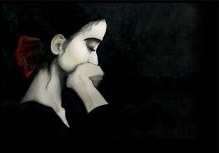 Photo: 縁縁年末年始コラボ展出品作品 GIRL F8 paper, watercolor