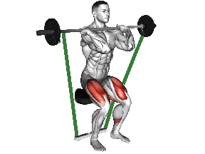 Seated Band Squat