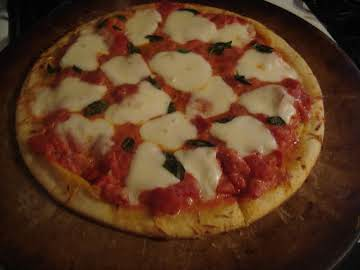 Margherita Pizza with Vodka Tomato Sauce