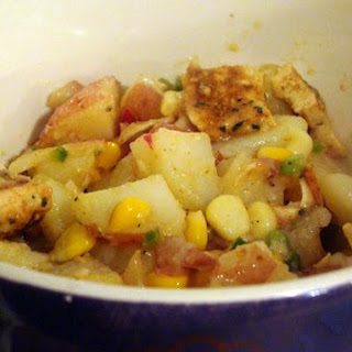 Grilled Chicken & Corn Red Potato Salad With Jalapeno Vinaigrette.