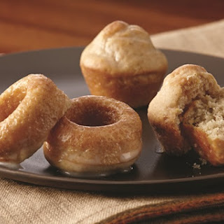 Mini Baked Donuts with Vanilla, Maple or Mocha Glaze.