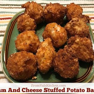 Ham And Cheese Stuffed Mashed Potato Balls.