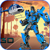 police robot hélicoptère transformation bataille APK