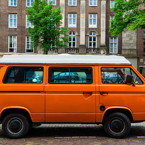 VW Van by Luke Albright - Transportation Automobiles ( car, city, vintage, old, street, classic car, vehicle,  )