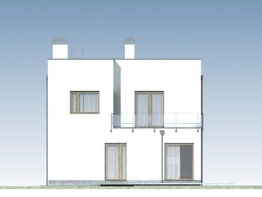 Domo 01 D - Elewacja tylna