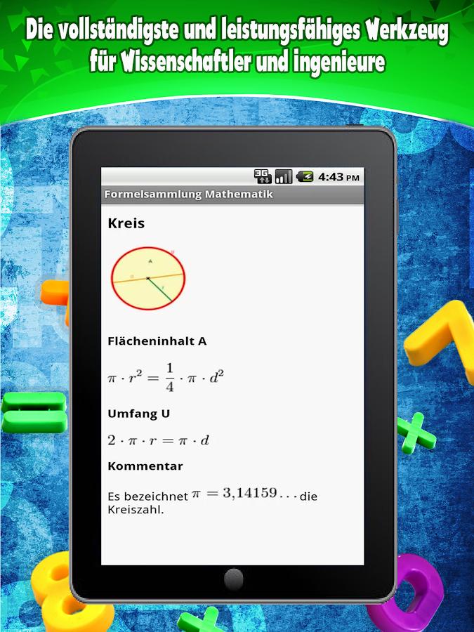 Formelsammlung Mathematik- screenshot