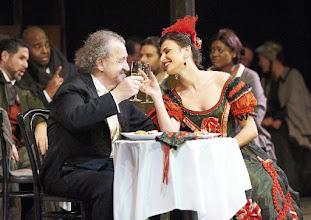 Photo: LA BOHEME - Wiener Staatsoper, 19.3. 2016. Alfred Sramek, Valentina Nafornita. Copyright: Wiener Staatsoper/ Michael Pöhn