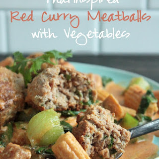 Thai Red Curry Meatballs – Low Carb and Gluten Free.