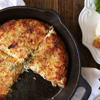 Rosti Potatoes with Melted Leeks and Goat Cheese Recipe