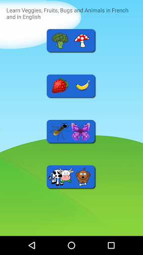 Frencn and English Animals Bugs Fruits Vegetables  screenshots 1