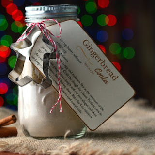 Gingerbread Cookie Mix in a Jar.
