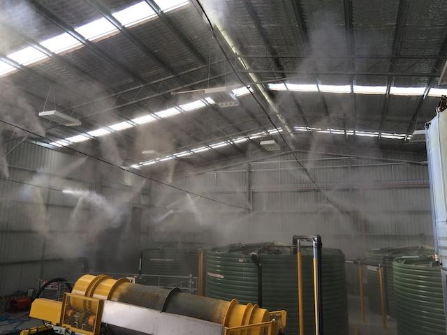 Bạn cần lắp đặt máy phun sương công nghiệp đảm bảo tốt về độ cao
