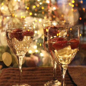 A Toast to the New Year by Lena Arkell - Public Holidays New Year's Eve ( wine, champagne, christmas, bokeh, new years,  )