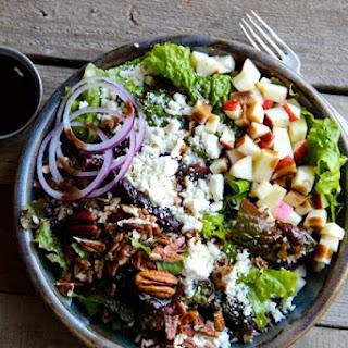 Apple, Pecan & Feta Green Salad.