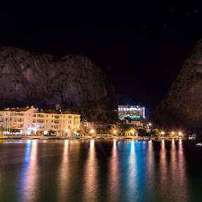 Omiš at night by Ivica Bajčić - City,  Street & Park  Night ( night photography, omis, night, visitcroatia, night shot, nightscape, city )