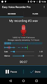 Easy Voice Recorder Pro Screenshot 1