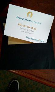 Menno de Bree wint Entrepreneur of the Year Award ActionCOACH Nederland 2