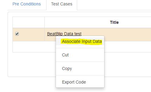Associate input data
