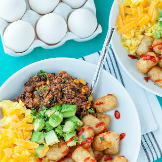 Vegetarian Chili Tot Breakfast Bowls