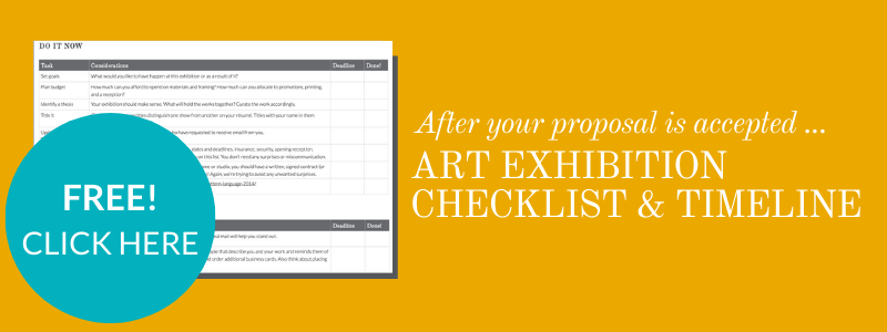 Art exhibition timeline and checklist for after your proposal