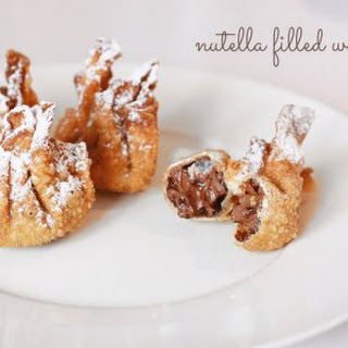 Nutella Filled Wontons.