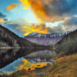 Lake Jerome Evening by Patricia Phillips - Landscapes Travel ( alaska lakes jerome  sunset )