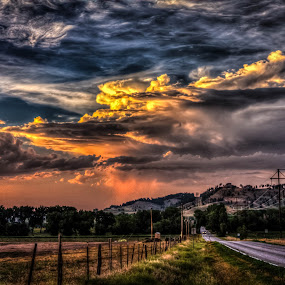 Country Sky by Dave Zuhr - Landscapes Cloud Formations ( clouds, hdr, color, colors, sunset, landscape, d_zuhr, dzuhr, country )