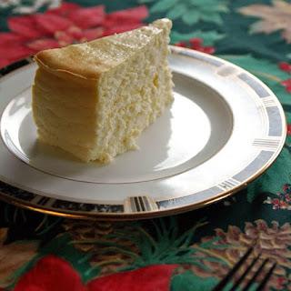 Fluffy Crustless Cheesecake.