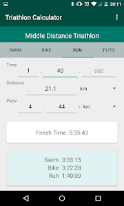Triathlon Calculator: Pace for Swim/Bike/Run 이미지[5]